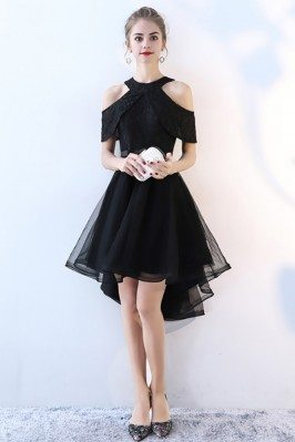 Chic Black Tulle High Low...