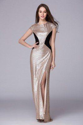 Celebrity Sparkly Sequins Long Formal Dress