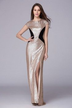 Celebrity Sparkly Sequins Long Formal Dress