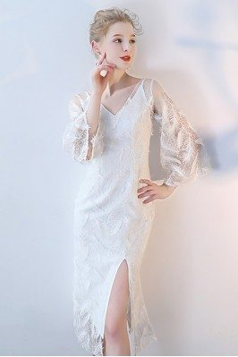 White Feathers Party Dress...