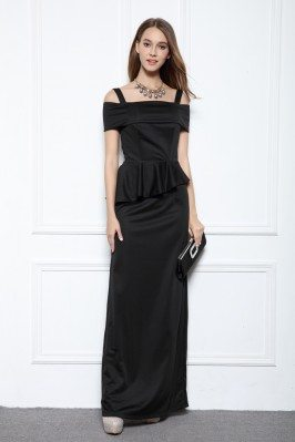 Black Fashion Fitted Long Party Dress