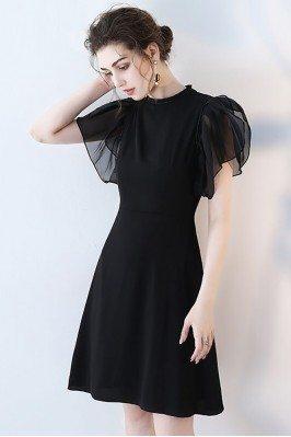 Chic Black Short Formal...