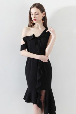 Sexy One Shoulder Black...