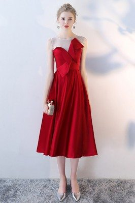 Burgundy Aline Party Dress...