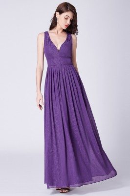 Flowing Chiffon Purple Long...
