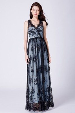 Floral Printed Black Lace...