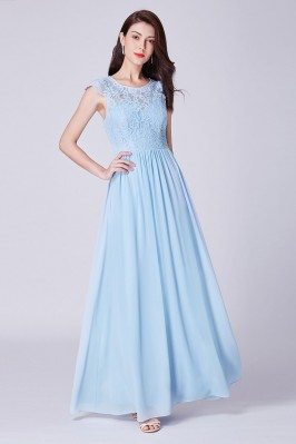 Sky Blue Long Chiffon...