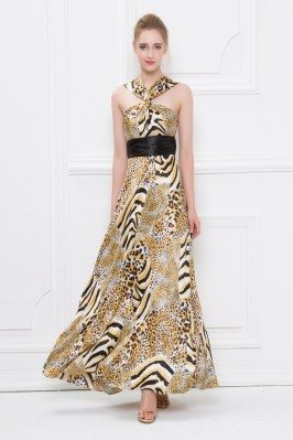 Leopard Print Long Special Occasion Dress