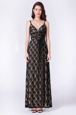 Empire-waist Black Lace...