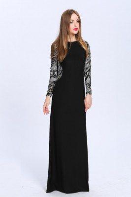 Black Long Sleeve Party Dress