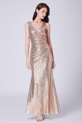 Sparkly Gold Sequin Long...