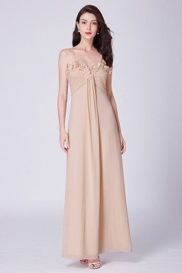 Champagne Long Pleated...