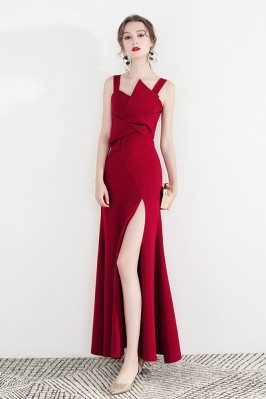 Formal Long Red Party Dress...