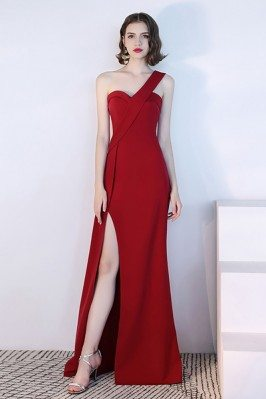 Sexy Long Red Side Slit...