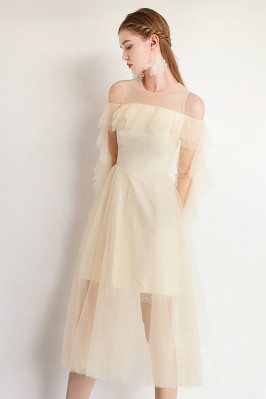 Fairy Aline Champagne Tulle...