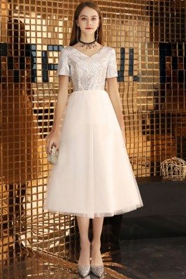 Silver With White Tulle...