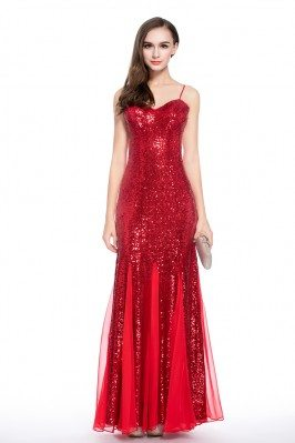 Sparkly Sequin Long Formal Dress With Straps