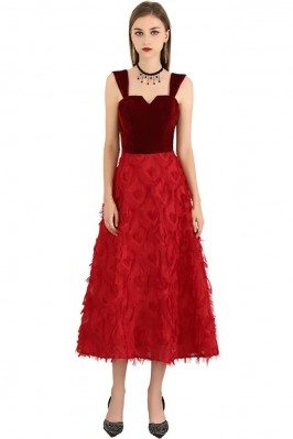 Two Tone Red Colors Midi...