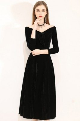Gorgeous Off Shoulder Midi...