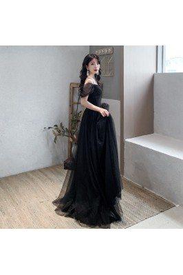 Elegant Sequin Tulle Long...